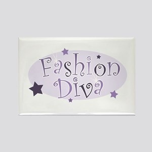"""Fashion Diva"" [purple] Rectangle Magnet"
